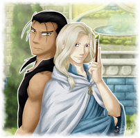 Daryun and Narsus - The Painter and the Knight by Isi-Daddy