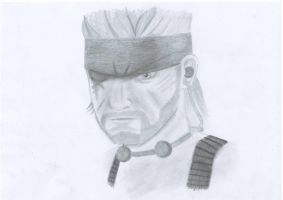 Naked Snake by hellduck