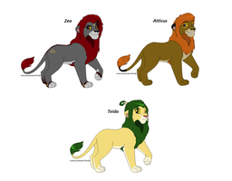 Breedable Male Lions by Sikudhanii