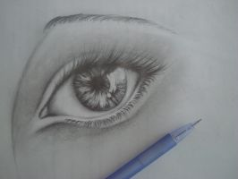 Random eye drawing by Huyen-Linh