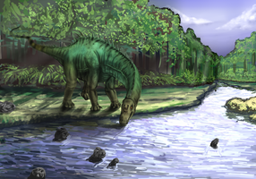 Dino Diplodocus with Tutorial by xenocracy