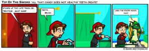 Candy Creates Unhealthy Teeth by tipofthesword