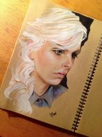 Portrait of Andreja Pejic by Mandartany