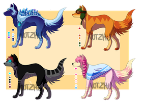 Canine Adoptables 1 [1/4 OPEN] by Norine-adopts