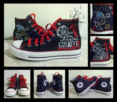 Steam Powered Giraffe Converse by kurohyoukage
