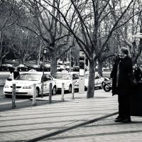 Booking a taxi by litecreations