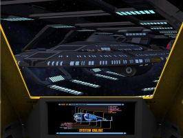 Similar Starfleet Sovereign class ship in drydock by MurbyTrek