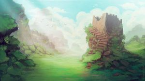 Ruins Painting by Seyanni