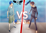 Mashiro VS Nizuma by retinascrew