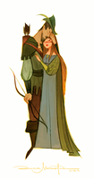 Robin Hood and Lady Marian by DianaMaRble