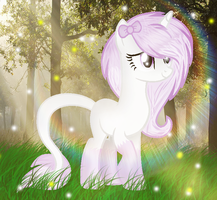 Art Trade |Violet Bow by BloodLover2222