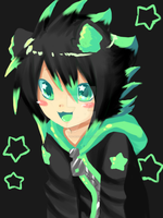 Neon Green Neko by Love-The-Nekos
