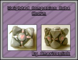 Weighted Companion Cube Charm by querulousArtisan