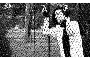 Drue and a Fence by Natamalie