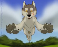 Leaping Wolf by Tephra76