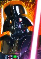 Star Wars portraits: Vader by vividfury