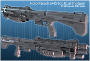Halo:Reach M45 TacticalShotgun by martynball