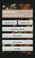 JWildfireMini for Android main interface by thargor6