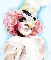Lady Gaga Mixed Media by ElectraSinclair
