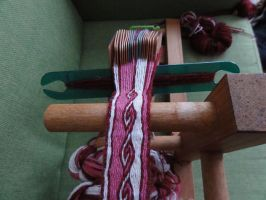tablet woven belt on loom by were-were-wolfy