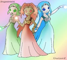 The 3 Goddesses :Color: by CHAiTEAMELODY