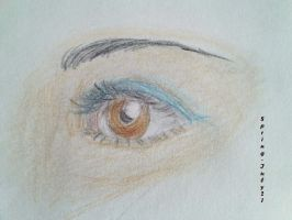 The colored eye by Spring-Iuly21