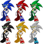 Riders Sonic recolors by shadowgarion