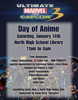 Day of Anime Flyer by WolfMK47