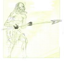 old man with spear by concho