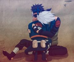 kakashi : Here I come Obito by blue1style