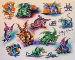 Creatures by Artistic-Tattooing