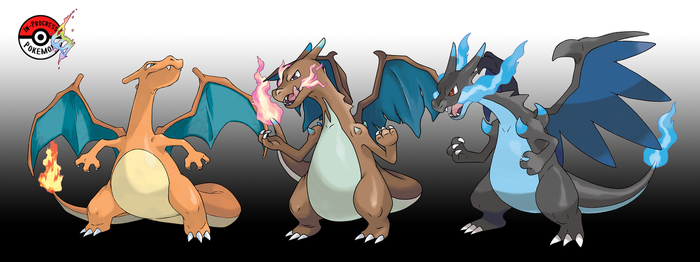 006 Mega Charizard X by InProgressPokemon
