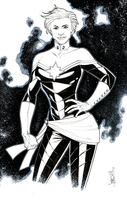 Captain Marvel, Inked by Hodges-Art