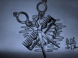 scissor tattoo sketch by ShellyZTrueheartInk