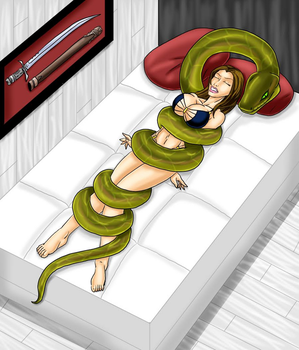 Snakes on a Bed by ZorzsLadies
