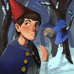 Wirt and Bird Friend by WillowEscapee