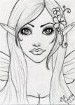 Fairy Elf ACEO Sketch by Aurella