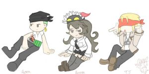 Zoro, Filia, and T.K. by hearts-and-pins