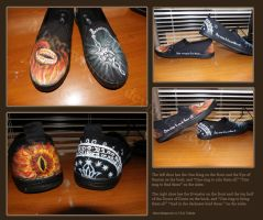 LotR Painted Shoes by Moon-wraith-x