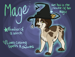 Mage the Witch Dog by GemFeathers