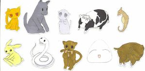 Fruits Basket Stickers by INUYASHAANGEL39