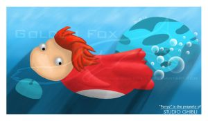 Ponyo In the Sea by golden-fox19