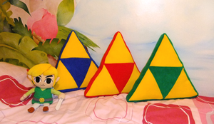 Triforce Pillows - Power, Wisdom, Courage by tavington