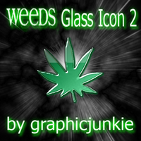 Weeds TV Glass Icon 2 by graphicjunkie