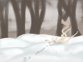 Elodi and the Snow by orengel