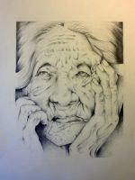 Old Woman by Saelian