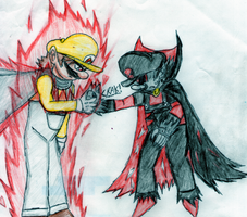 Hyper Mario vs :Evil, Old pic. by MGZE