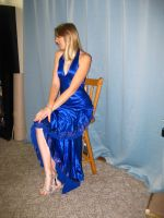 Elegant Blue Dress 22 by Danika-Stock