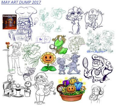May Art Dump 2017 by CrazyPlantMae
