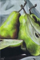 Pears in Pastel by ZEPASTELARTIST